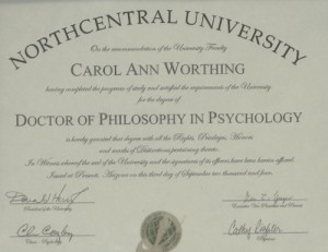 Psychotherapy Certification
